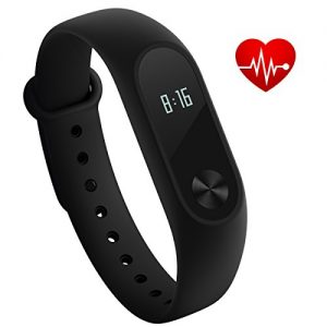 Xiaomi Mi Band 2 Fitness pulsera SleepTracker IP67 Smart Watch, negro, ONE SIZE